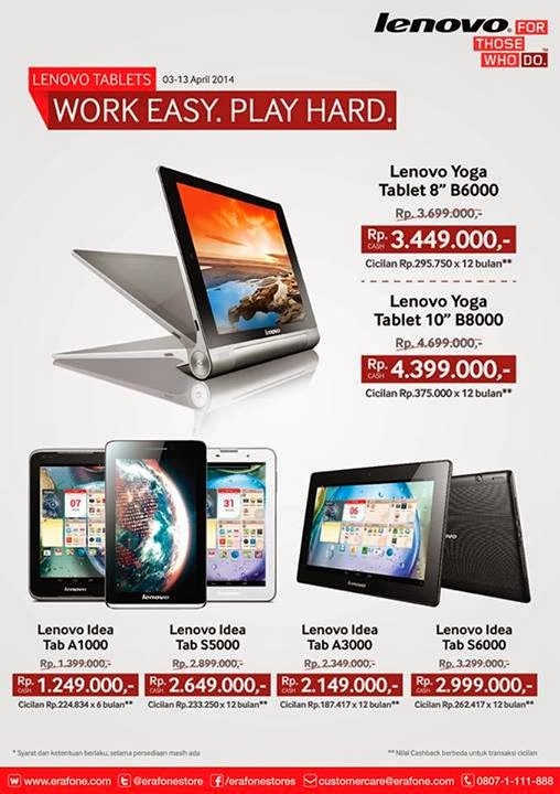 Promo Tablet Lenovo