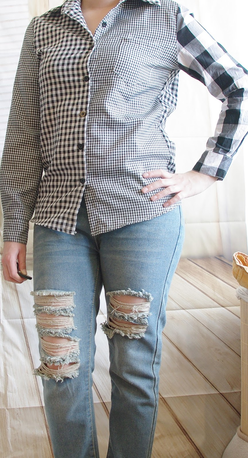 Outfit How to style a Boyfriend Jeans - Teil 7: Karohemd