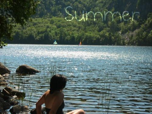 fishing swimming lake fun