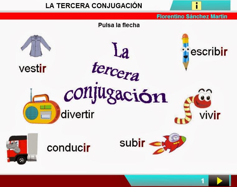 http://cplosangeles.juntaextremadura.net/web/edilim/curso_4/lengua/tercera_conjugacion/tercera_conjugacion.html