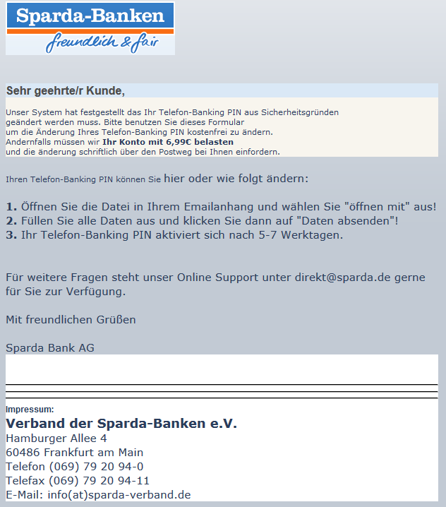 phishing link in pdf spamassassin