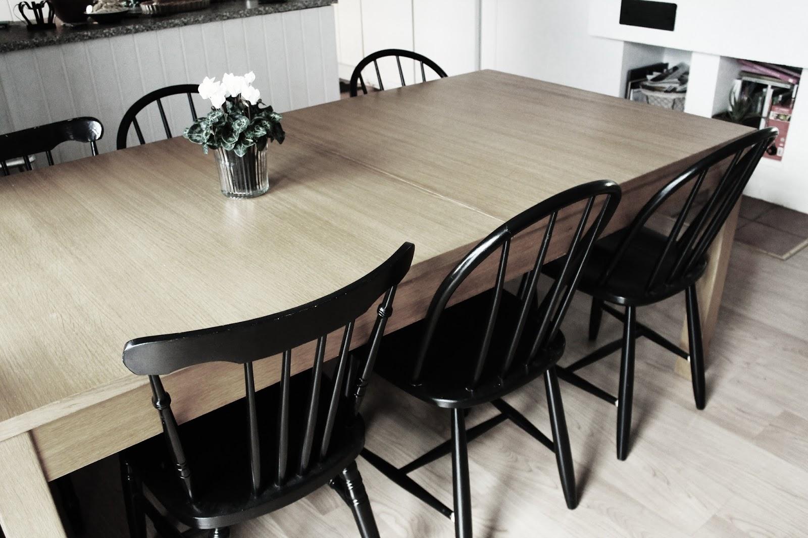 snygga stolar till ekbord