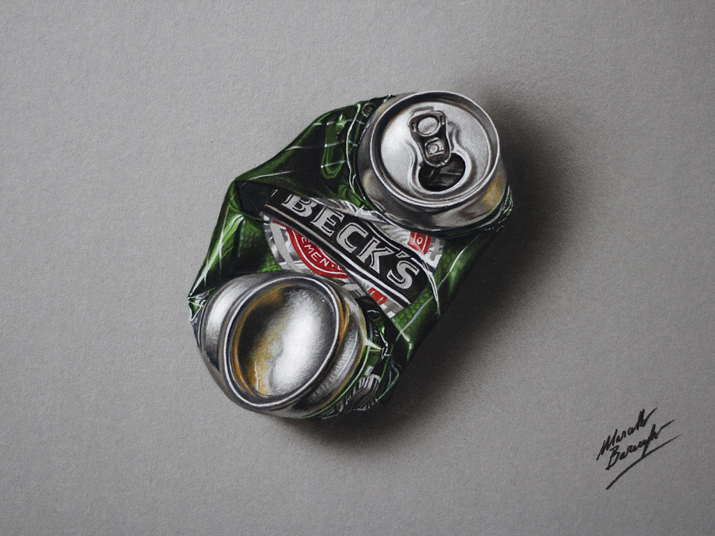 Marcello Barenghi: January 2015  Crushed Beer Can