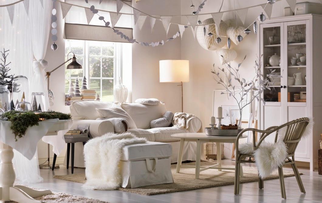 Winter Decorations Interior Design Living Room Picture 07