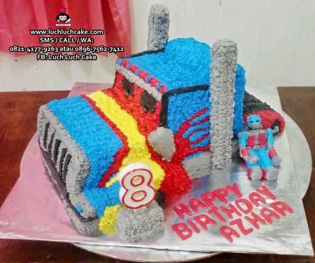 Kue Tart Optimus Prime Truck Buttercream Cake