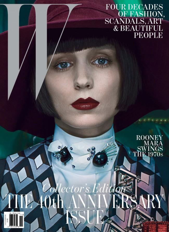 Cover Girls: Rooney Mara Channels the 70s on W Magazine's 40th Anniversary Issue