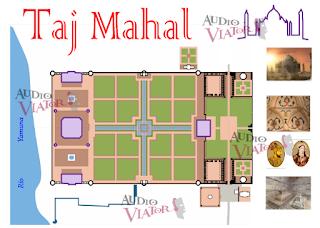 Plano de la audioguía del Taj Majal