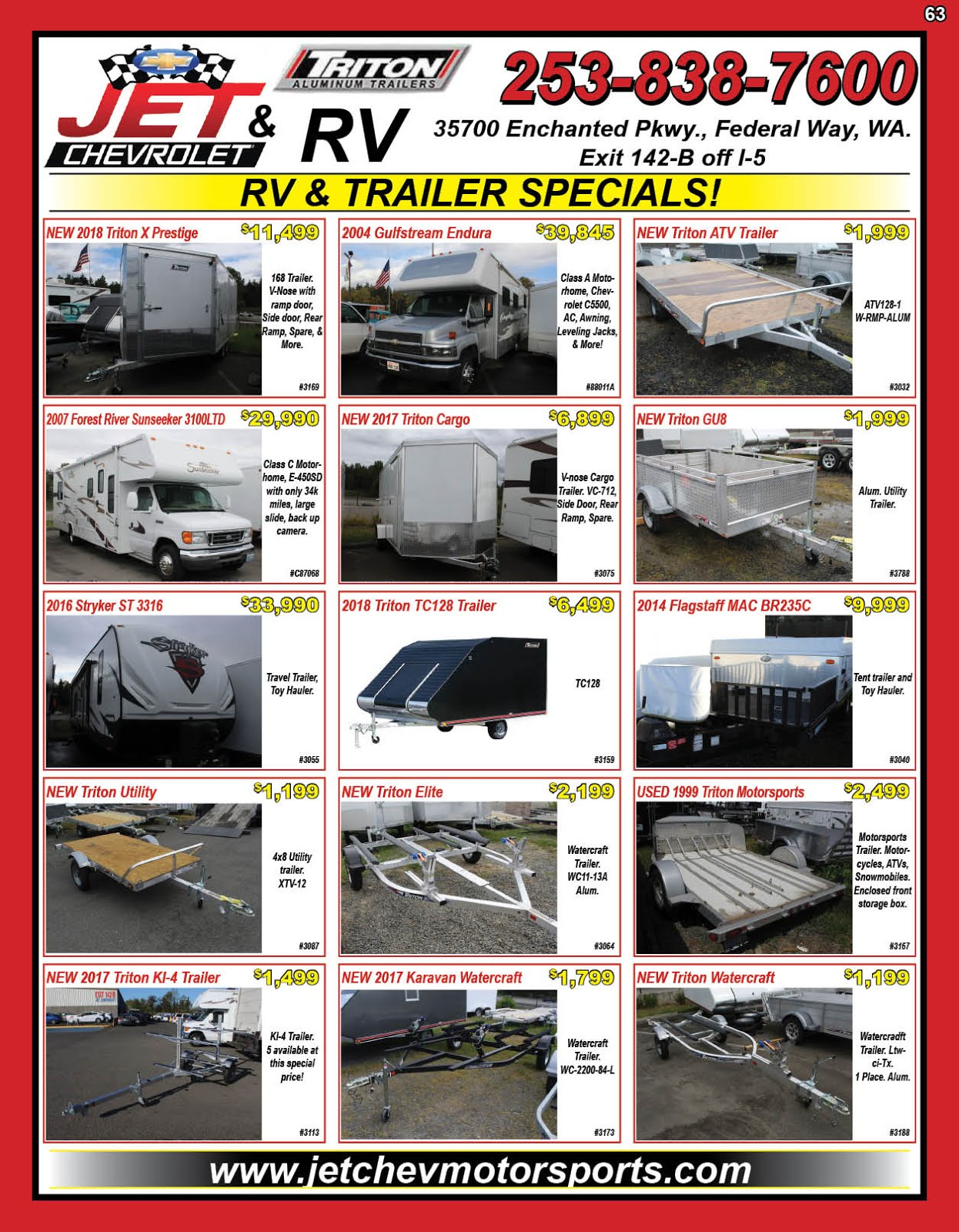 Jet Chevrolet RV & Trailers
