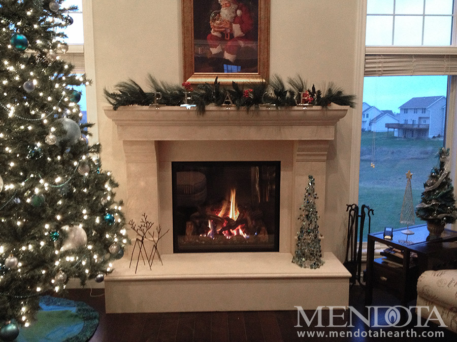 Great Room Gas Fireplace Remodel ~ Mendota Fireplace Look Book