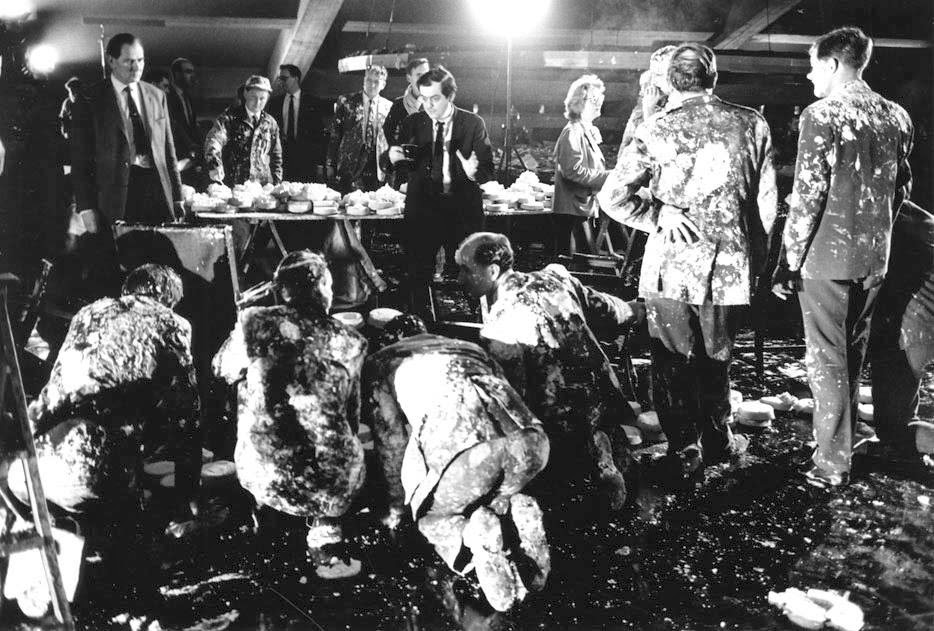 stanley kubrick deserving of worship dr strangelove pie fight dr strangelove pie fight