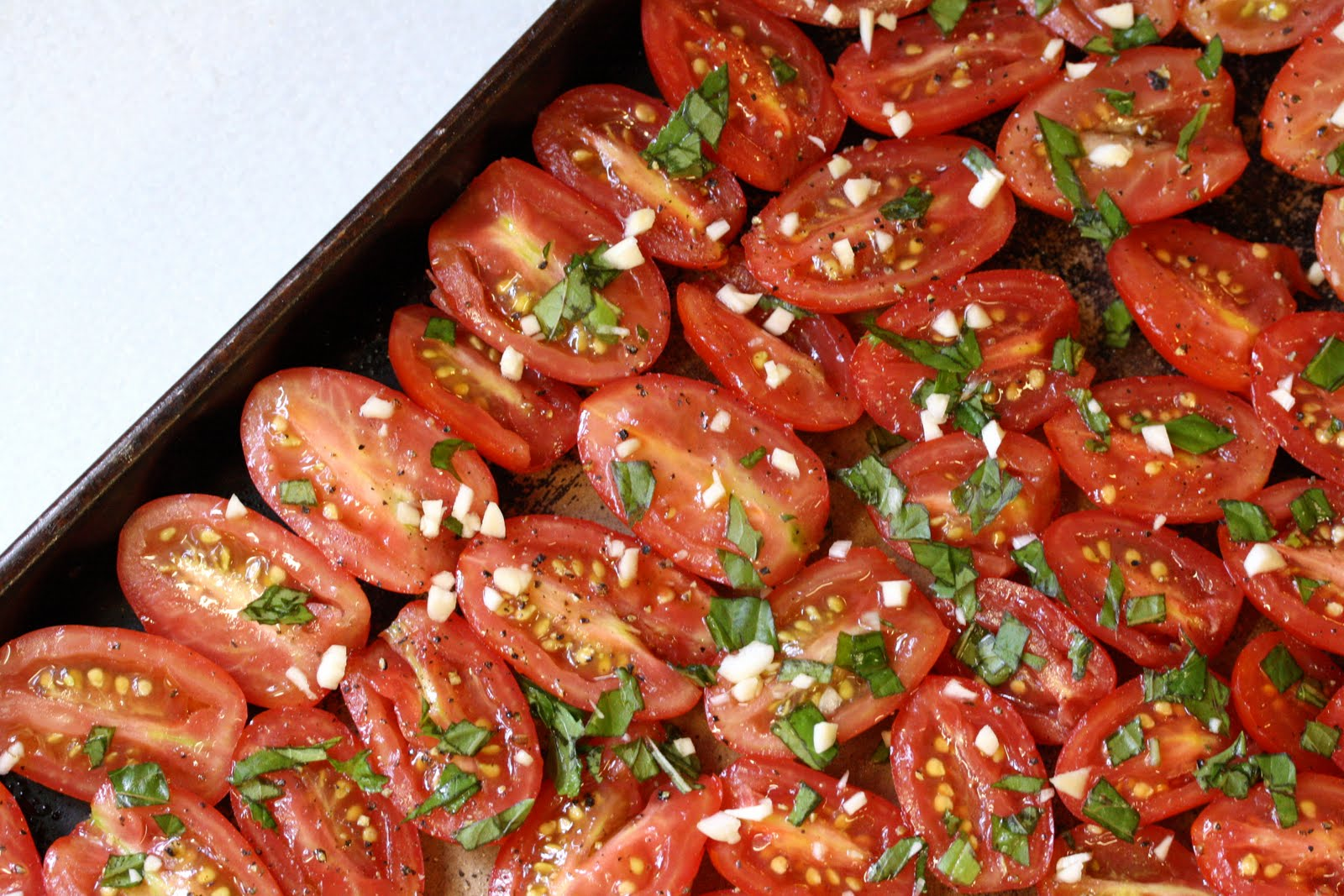 Oven Roasted Tomatoes - Saving Room for Dessert