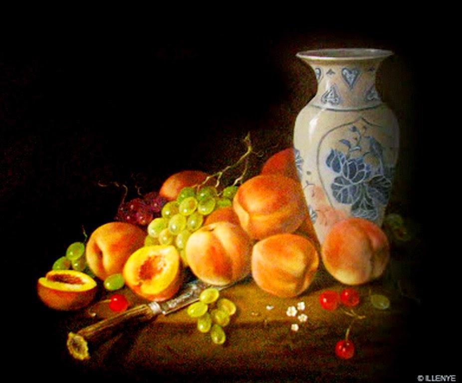 Cuadros pinturas oleos bodegones con frutas y flores - Pinturas bodegones modernos ...