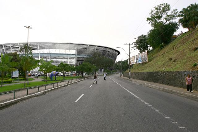 Via de acesso à Arena Fonte Nova
