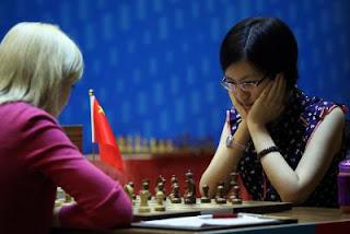 Championnat du monde : Ushenina 1-0 Hou Yifan - Photo © Anastasiya Karlovich
