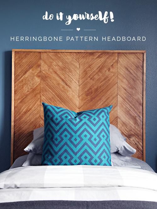 Headboard Patterns iheart organizing: diy herringbone pattern headboard