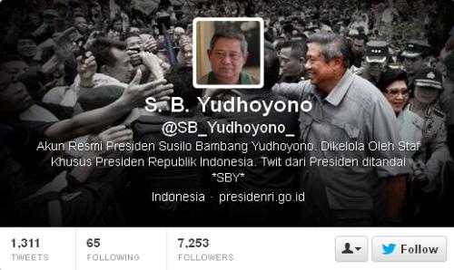 Twitter S. B. Yudhoyono SB_Yudhoyono_