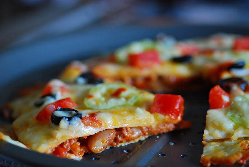 Taco Quesadilla Pizzas Recipes — Dishmaps
