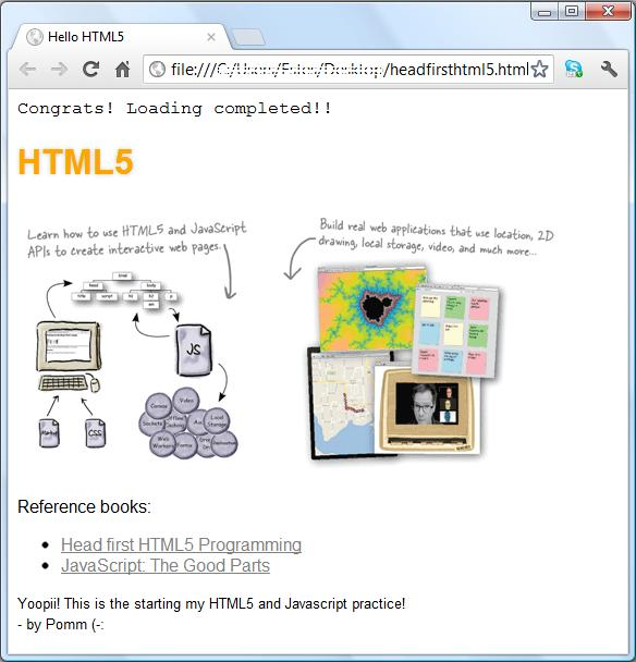 Croque la vie html5 intro hello world for Window onload javascript
