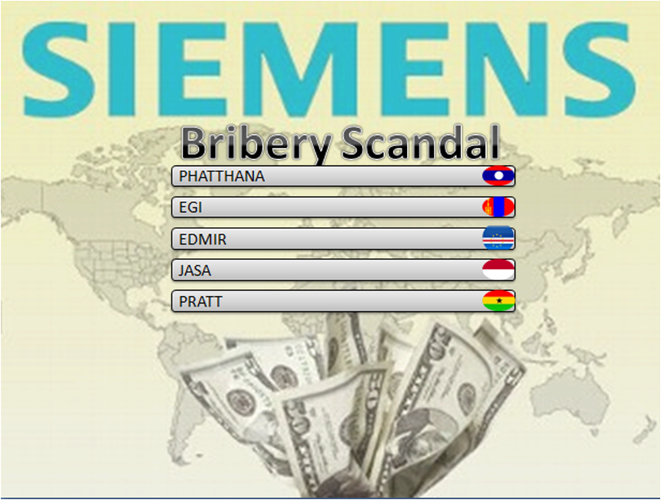 the bribery scandal at siemens ag essay Essay on the bribery scandal at siemens ag case one: the bribery scandal at siemens ag organization and industry overview: the case, the bribery scandal at siemens ag, underscores how employee involvement with unethical behavior can cause irrevocable damage to a company's reputation and ultimately their profitability and success.
