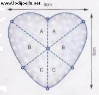 Corazones navide os en patchwork lodijoella - Imagenes de corazones navidenos ...
