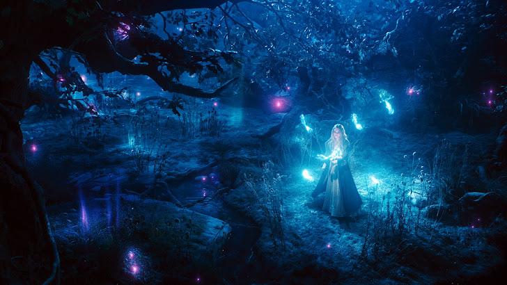 elle fanning as aurora in maleficent movie 2014 girl hd