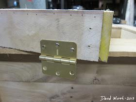 brass hinges, cooler, nails, lid