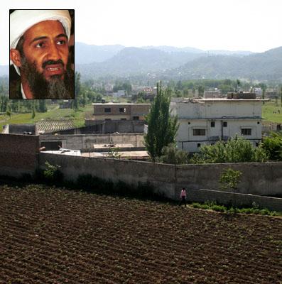 bin laden with gun. Usama in Laden was within