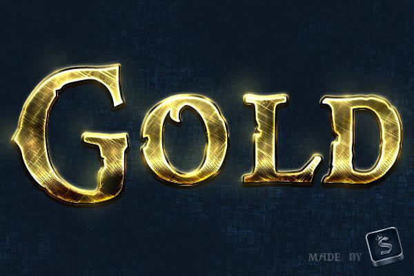 Efek Teks Emas Dengan Photoshop