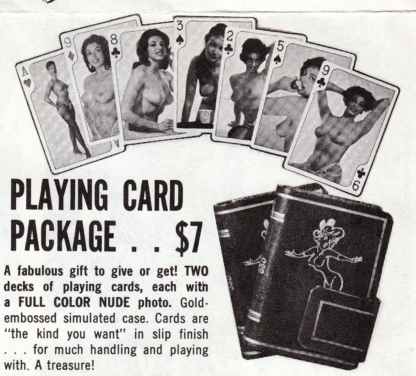 ... the back of magazines. Bill Wenzel Playing cards 1954 Frederic ...