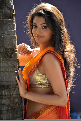 kajal agarwal new saree spicy actress pics