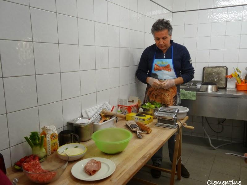 Le blog de clementine cours de cuisine de polpettone la for Association cours de cuisine