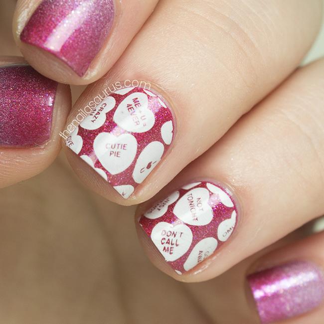 Valentine S Day Nails Art: Valentine's Day Holographic Gradient Nail Art