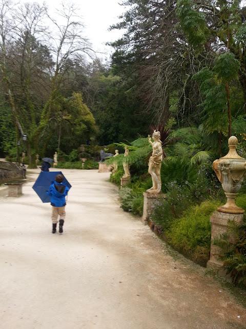 Statues of Gods at Quinta da Regaleira Sintra Portugal