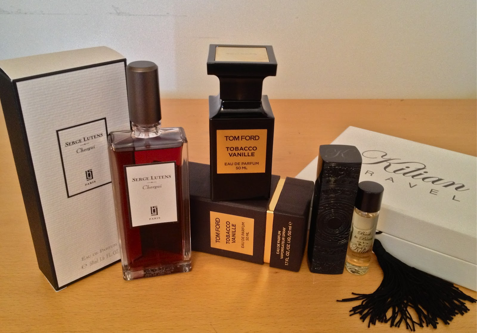 My Perfume Diaries: Back To Black Vs Chergui Vs Tobacco Vanille ...