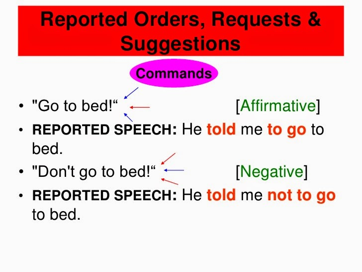english honori garcia reported speech commands and requests