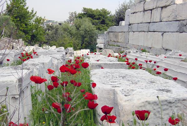 Detalle Ágora de Atenas. Grecia, 2001