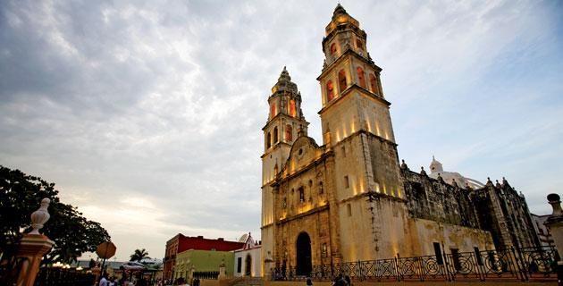 Los templos de Campeche