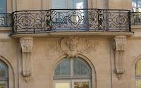 Balcon de l'hôtel de Chimay 7 quai Malaquais à Paris