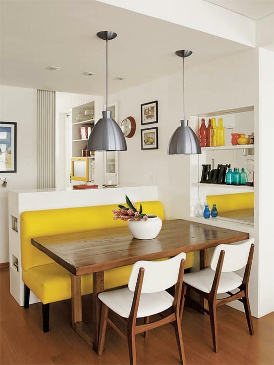 decoracao kitnet jovem : decoracao kitnet jovem:blog de decoração – Arquitrecos: Um toque de amarelo na decoração