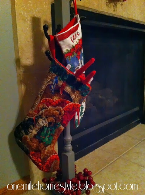 Elf on the Shelf digging in the stockings