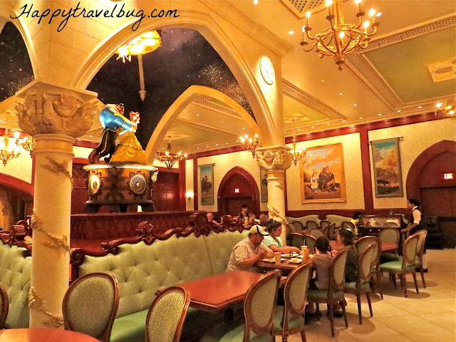 Belle's library dining room at Be Our Guest Restaurant