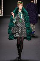 Палто еко кожа с косъм 2014 Anna Sui
