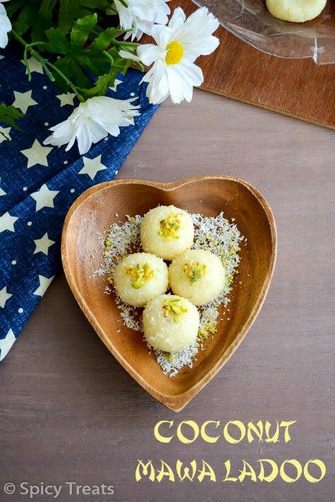 Coconut Mawa Ladoo