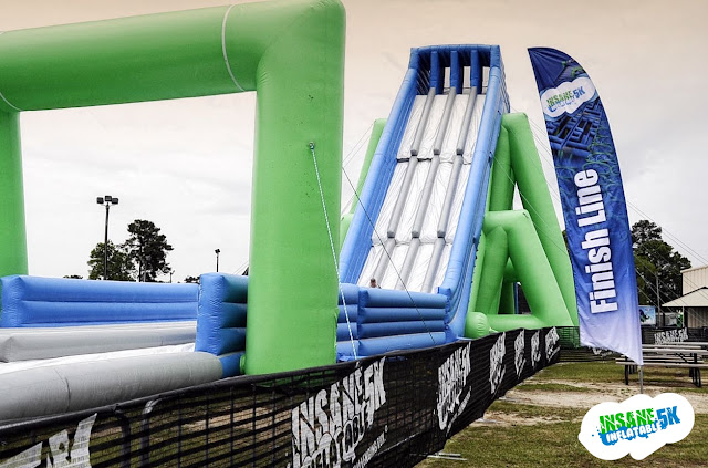 Insane inflatable 5k finish line