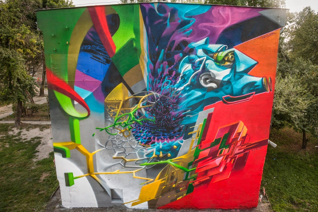 Proembrion just teamed up with Naris and Cekas to work on a new collaboration for the Meeting Of Styles Poland 2014 in the city of Lublin.