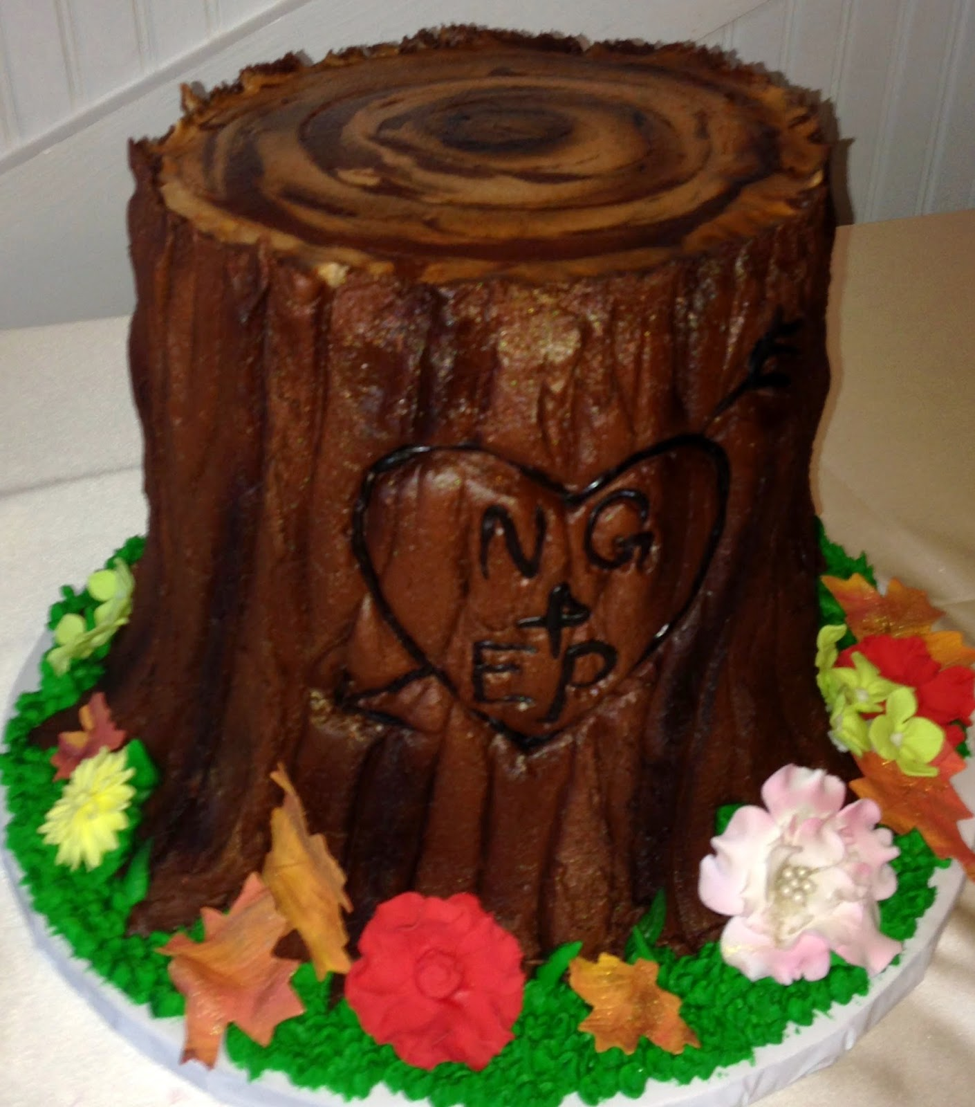 Tree Stump Cake, Frisco Heritage Center, Culinary Art Catering