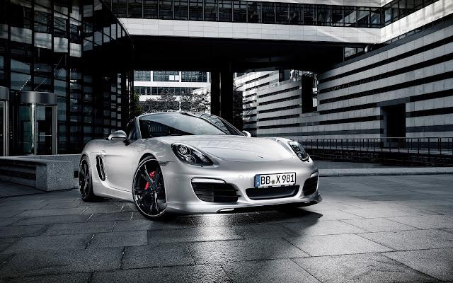 Silver Porsche Boxster