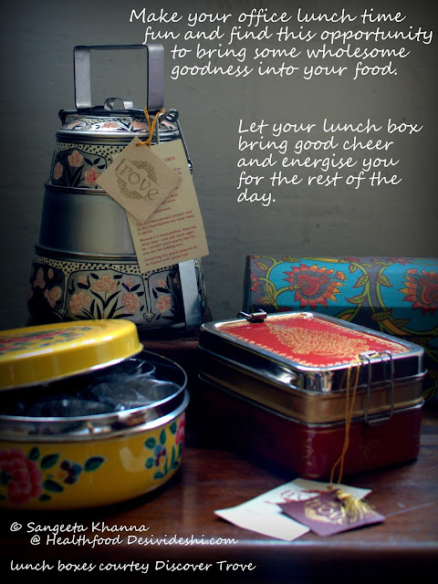 lunch boxes for adults : do not let the simple roti subzi be boring, jazz up the everyday subzi, make the subzi quick