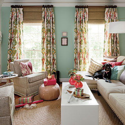 aesthetic oiseau colorful den via southern living