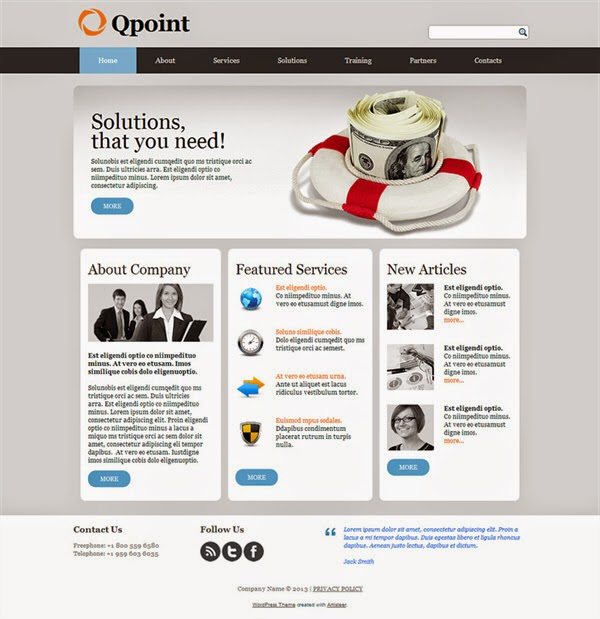 Qpoint - Free Wordpress Theme